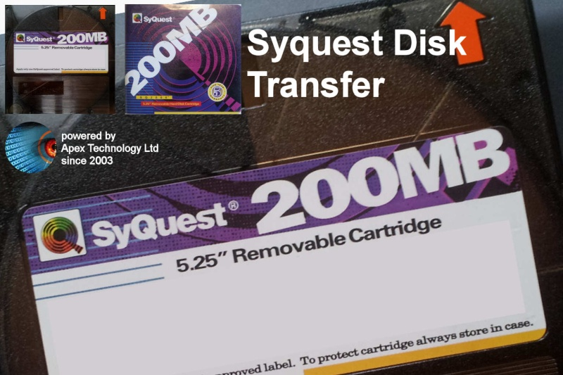 We transfer 200MB Syquest Disk Cartridges Transfer Files Copy Read Convert Recover Data Data Recovery 5.25 inch Removable Hard Disk Cartridge