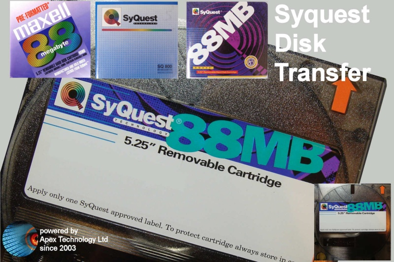 We transfer 88MB Syquest Disk Files Copy Read Convert Recover Data Recovery 5.25 inch Removable Hard Disk Cartridge