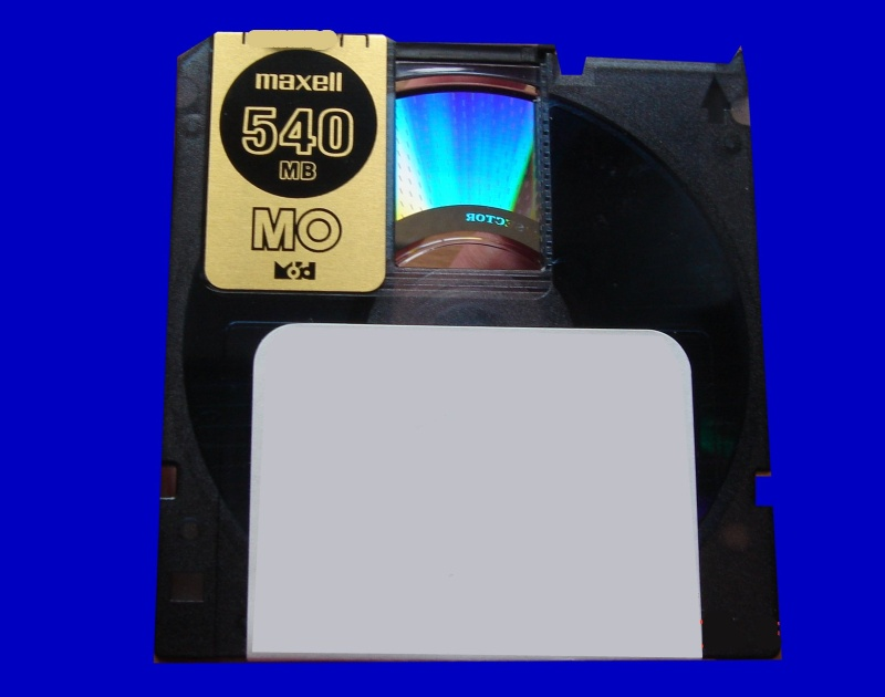 A MO disk that was used in an Akai Music sampler. The disk was sent to us for recovering the stored audio files and converting them to wav format.