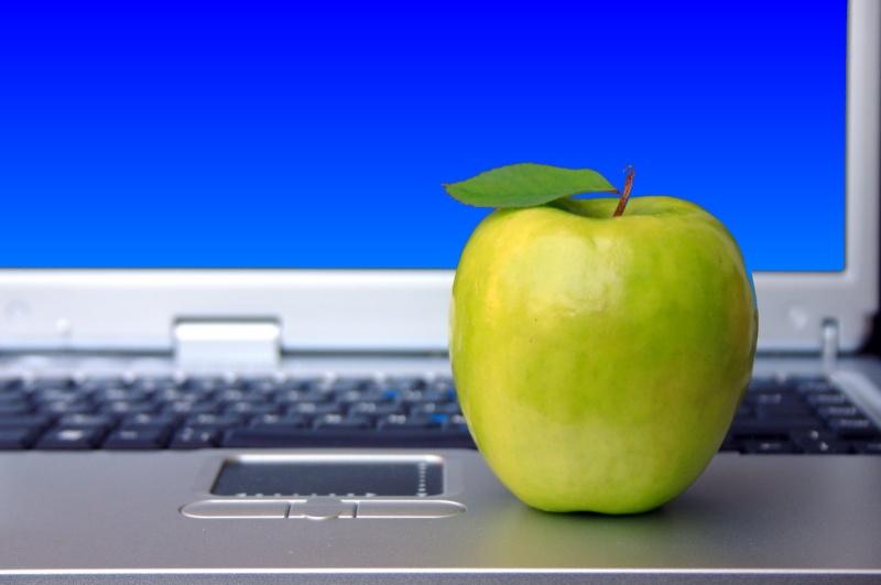An Apple Laptop.