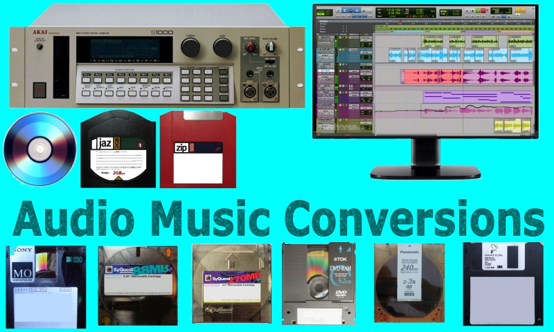 Convert Transfer Import Music Files from Digital Audio Samplers and old Apple Mac Disks