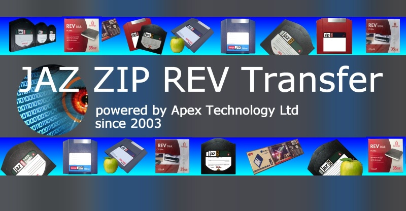 Convert Transfer Zip Jaz Rev disks to CD DVD USB data recovery or transfer files