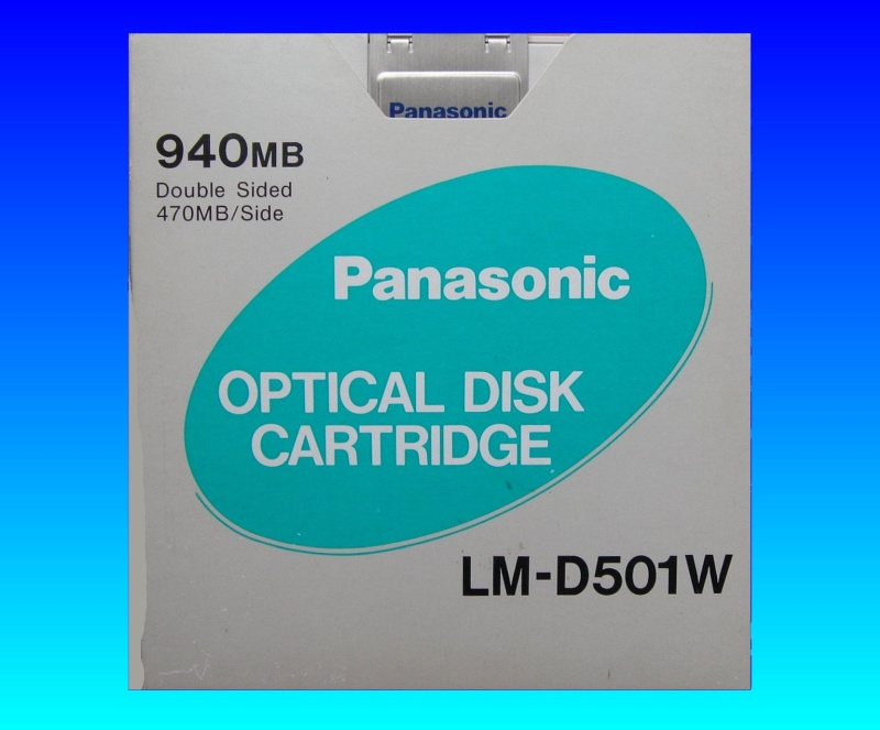 A LM-D501W 940MB Panasonic Optical Write Once Disk ready for Conversion and transfer of files in our lab.
