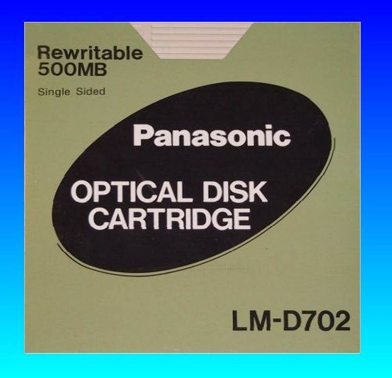 LM-D702 500MB Panasonic ReWritable Optical Disk Cartridge File Transfer.
