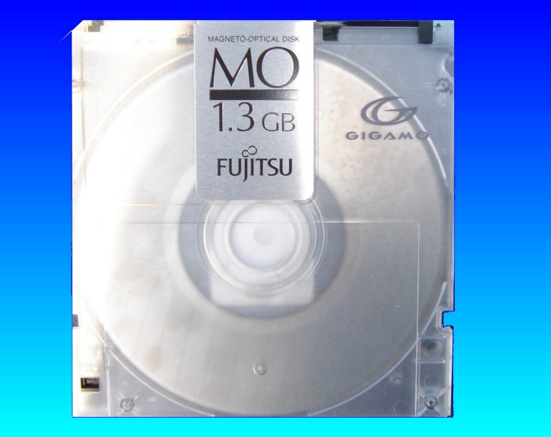A Gigamo disk ready for file transfer.