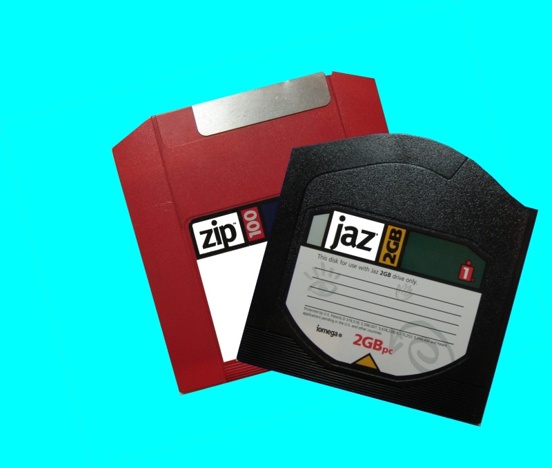 Iomega's OneStep (1-Step) backup used on Jaz and Zip disks. This is not to be confused with 1-step for Ditto Cartridge Tapes from Tecmar or Iomega Tools. These disks were undergoing restore to extract their files from the One-Step backup archive file.
