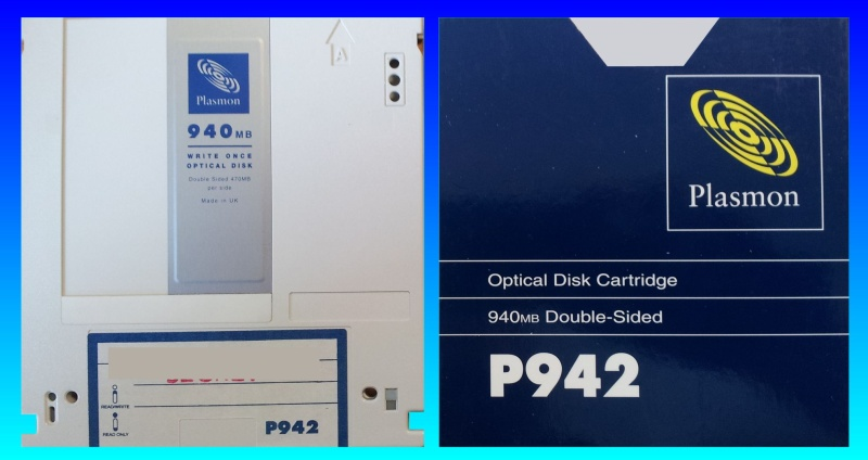 Recovering Files from Plasmon Write Once Disk P942 Cartridge.