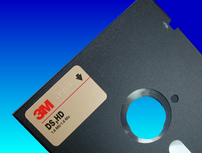 Combining and merging the data from 2 floppy disks in order to produce one good file. An old software program was resued from 2 identical but faulty disks with bad sectors. The Good sectors from each disk were read ok then merged together to make a complete working copy of the program.
