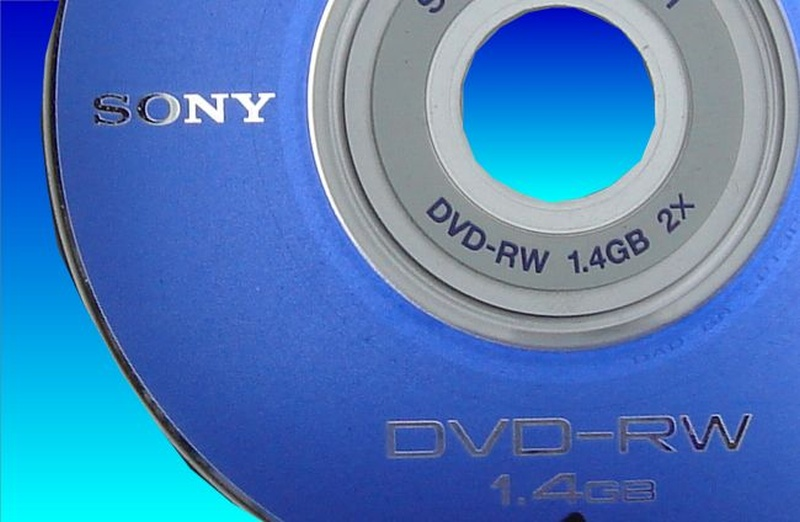 Sony dvd-rw disk from handycam that would not finalise in the camera.