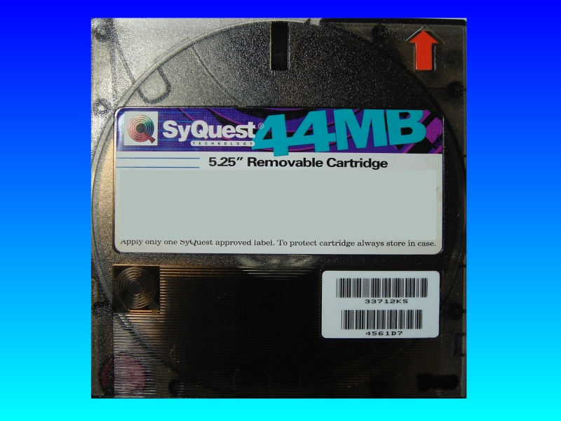 A Syquest 44mb disk having data recovered.