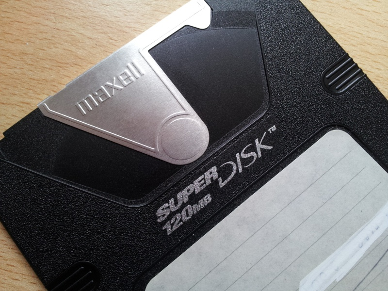 An LS-120 Superdisk that needed files transferred to CD.