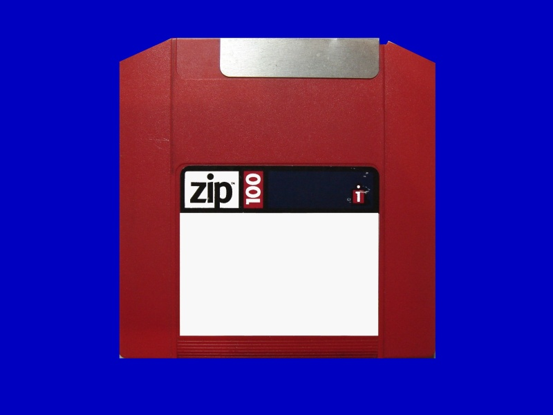 A Zip100 disc which held a copy of Superbase database that needed rescue after the computer failed to recognise the disk in the drive.