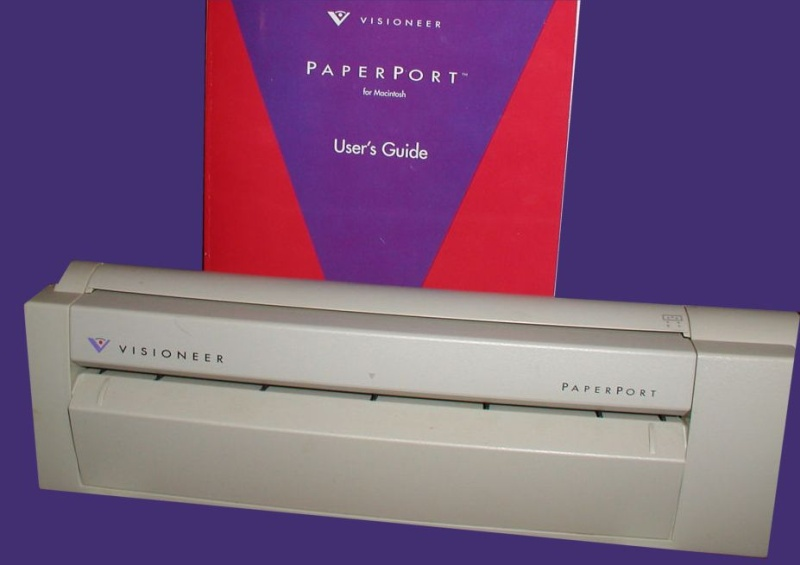 apple mac os9 osx scansoft visioneer paperport scanner.