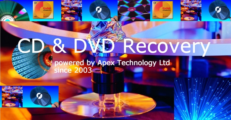 CD and DVD data recovery with file transfer to Hard Drive or USB