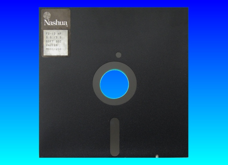 An 8 inch floppy disk from PDP11 Dec computer which required files to be transferred off to CD.