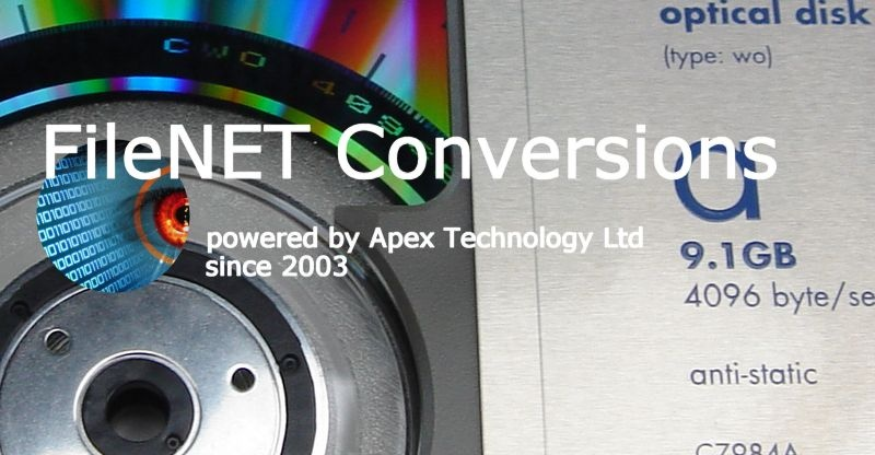 FileNet Disk Recovery File Transfer Data Conversions MO Optical Disks Corrupt Unreadable Unrecognised Disks Extract Migrate Export Import Jukebox Library Index