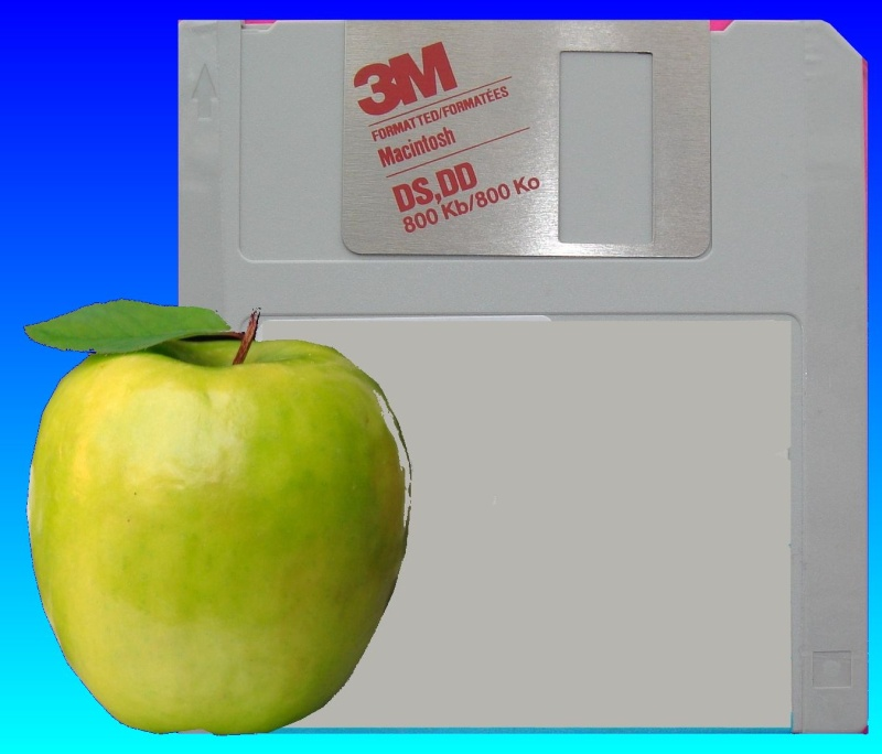 mac 3.5 inch floppy disk from apple computer awaiting file conversion.