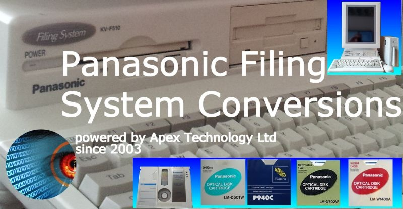 Panasonic Electronic Filing System Optical Disks Conversions