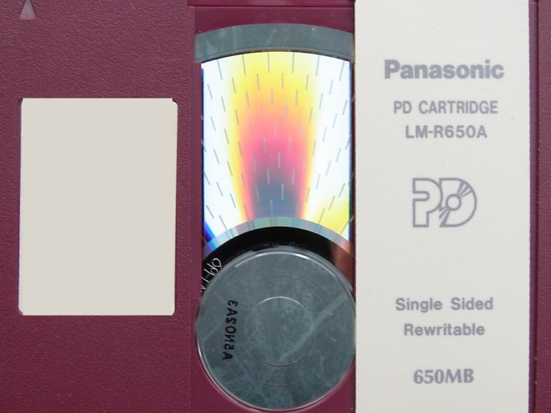pd cartridge by panasonic lm-r650a in for file transfer.