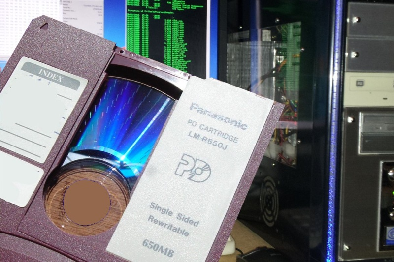 PD Cartridge for ready file transfer and optical disk conversion in our lab.