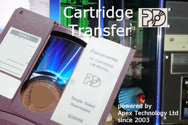 pd cartridge file transfer disk conversion and data recovery