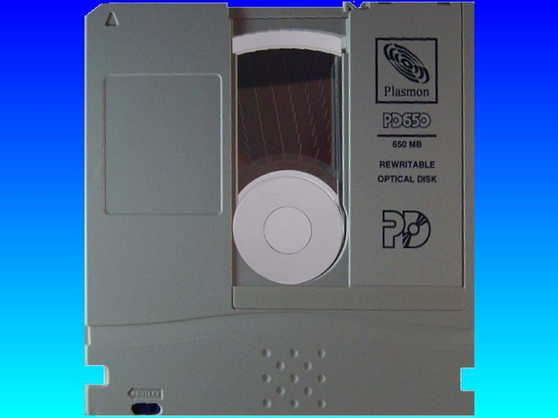 Plasmon PD 650 optical disk for conversion