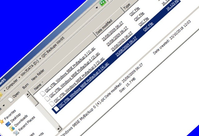 A screenshot from Windows qic backup files emailed for data recovery.