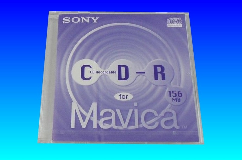 Sony Mavica CD storing photos and used in old Sony Camera.