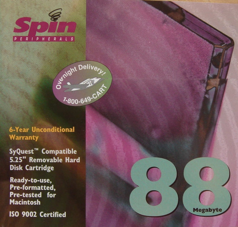 Spin Peripherals 88MB Syquest Removable Hard Disk Cartridge for file transfer