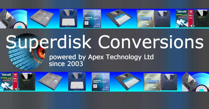 Superdisk convert transfer file data to cd Windows Apple Mac