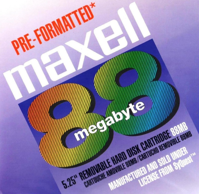 88MB Cartridge by Maxell using Syquest Disk Technology