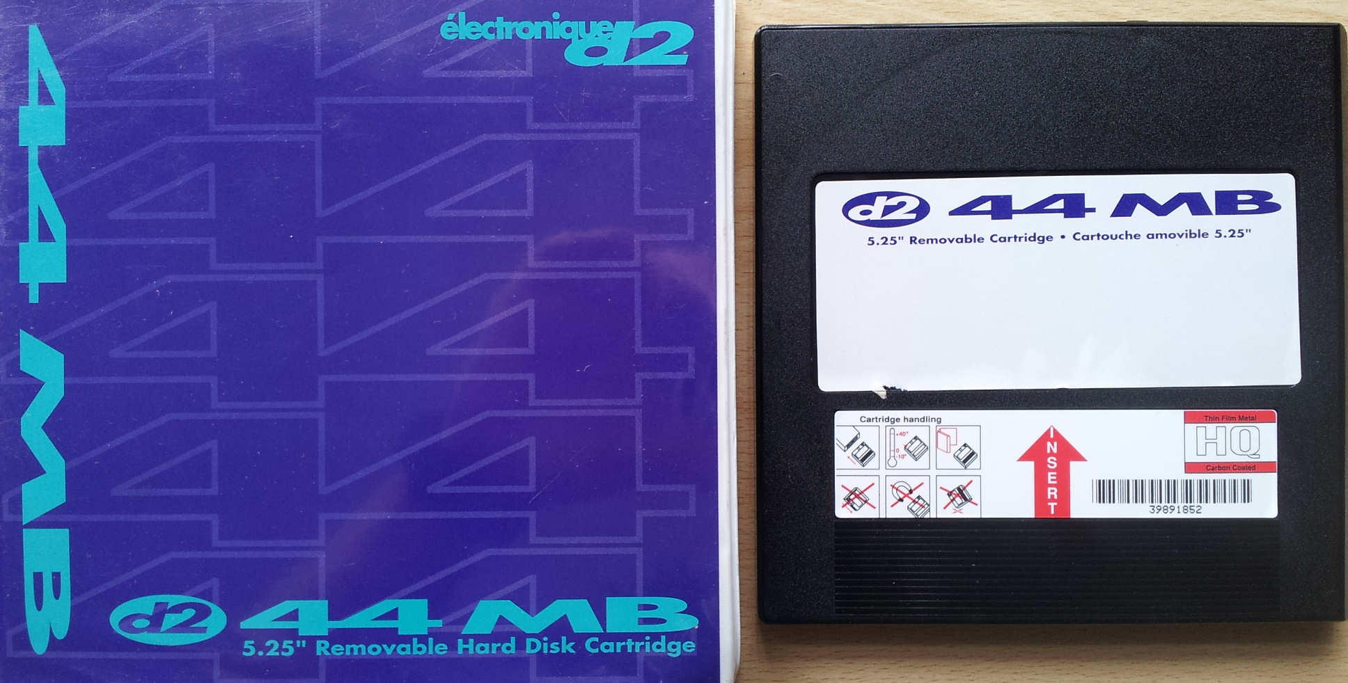 Electronique D2 44MB Syquest Disk