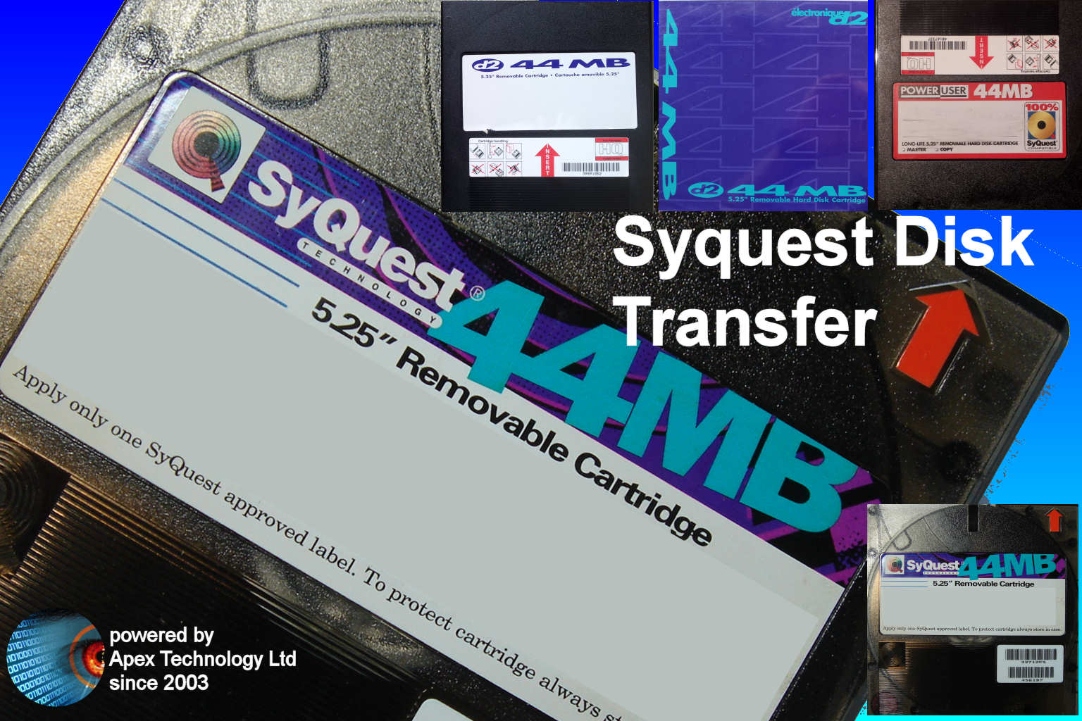Transfer 44mb Syquest hard disk cartridge files