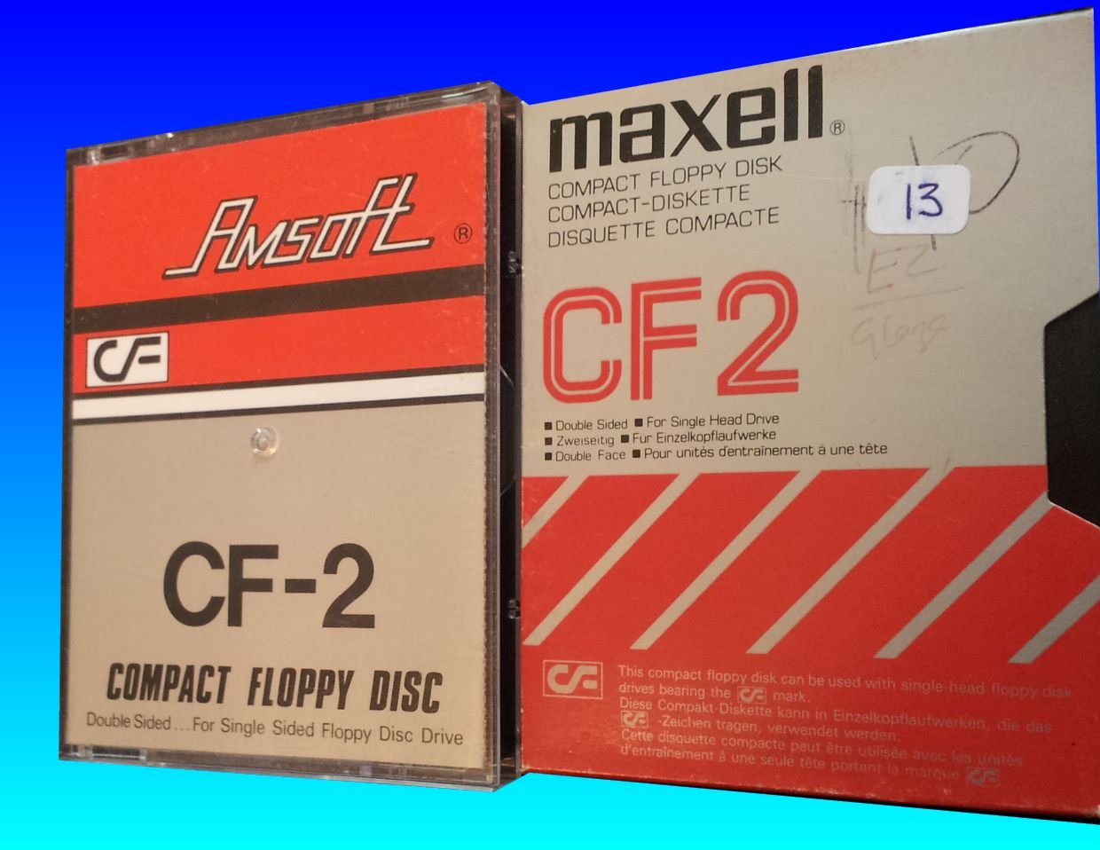 CF2 disk for Amstrad by Amsoft and Maxell awaiting file transfer