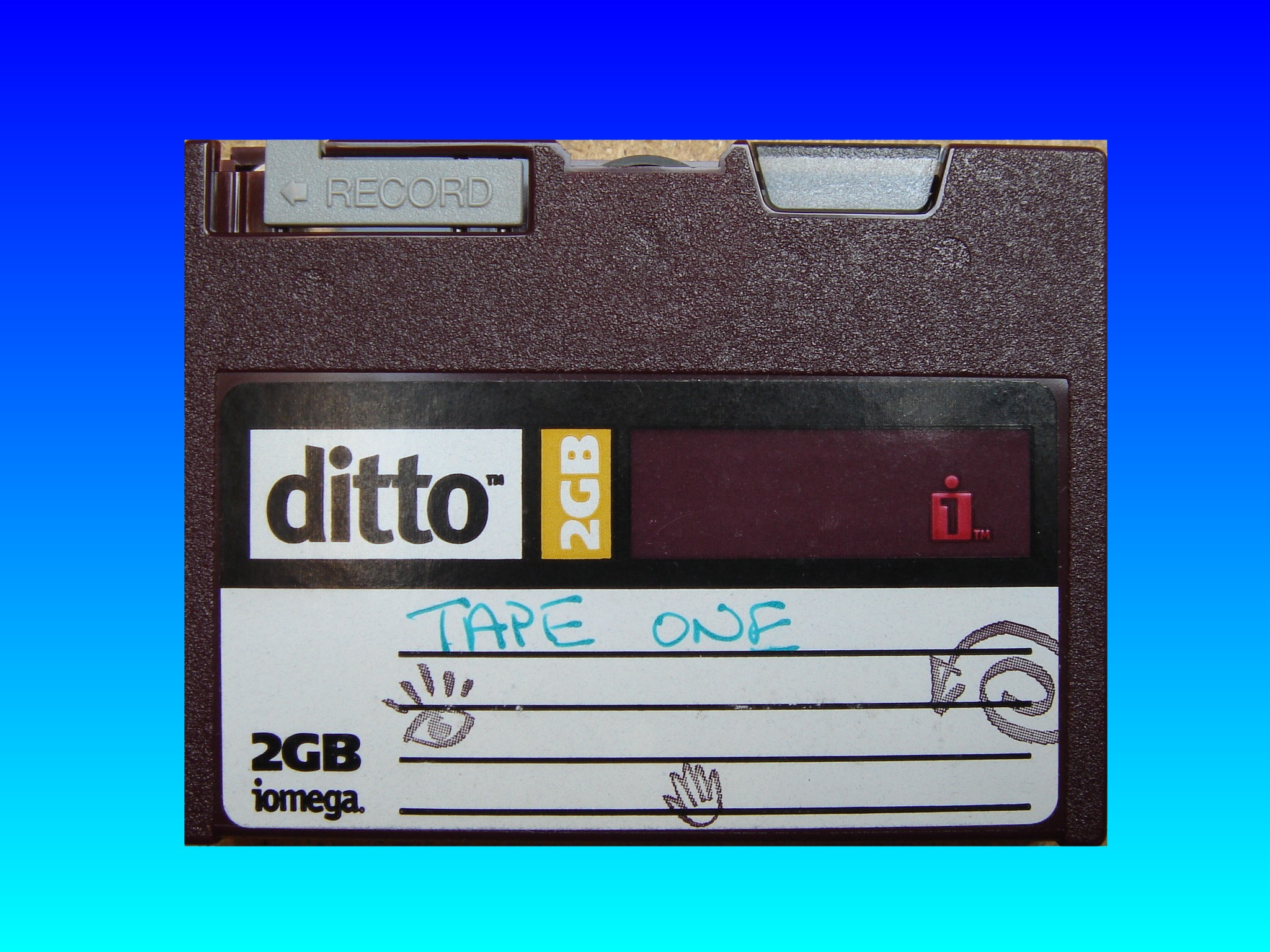 A Ditto 2GB Tape requiring data transfer.