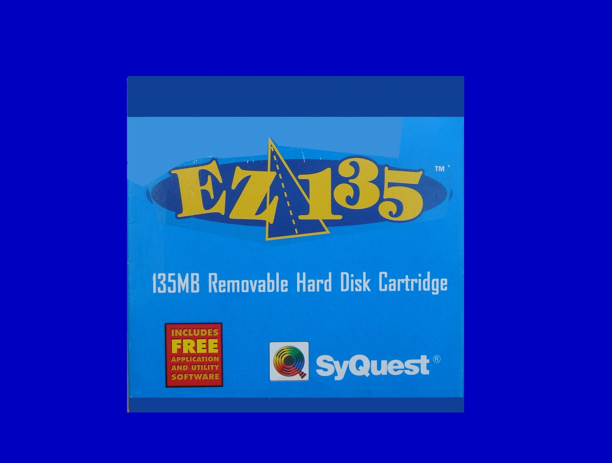 A Syquest EZ135 135mb disk with archive files ready for transfer to CD or USB.