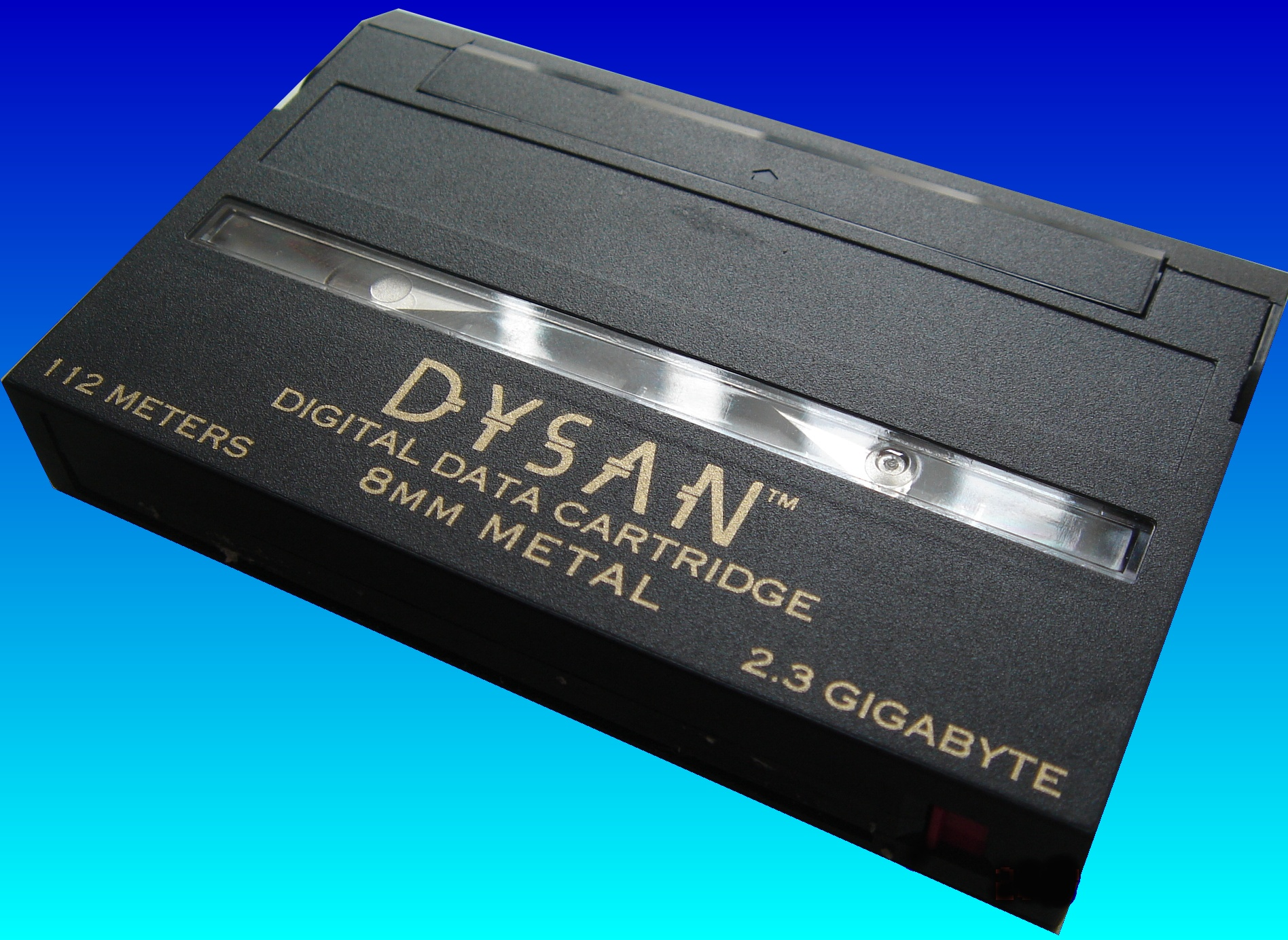 A Dysan Exabyte Mammoth 8mm tape used on a Sun Solaris. The software used to back data up to the tape was unknown but we managed to read the low level data to work out it was saved using ufs-dump facility. So we used ufs-restore to extract the files to USB hard drive and DVD.