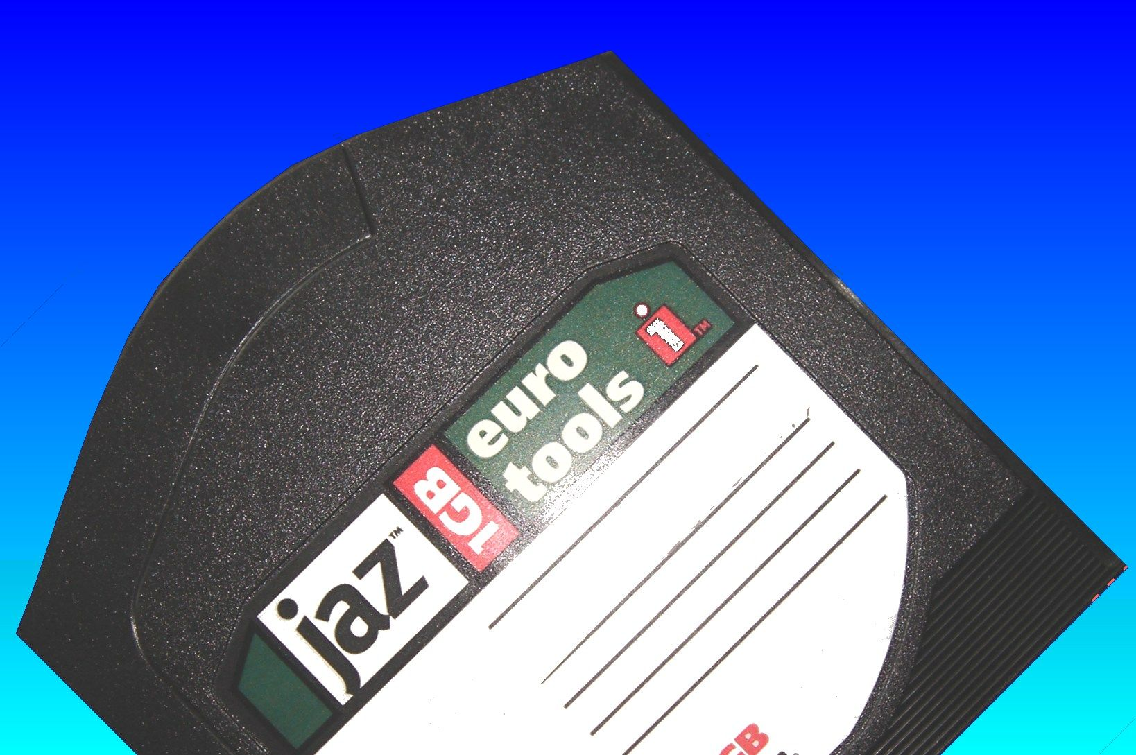 This 1GB Jaz disk was used in an Apple Mac and sent to us for transferring the data to DVD or USB.