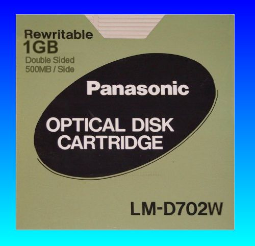 LM-D702W 1GB Rewritable Panasonic Optical Disk Cartridge File Extraction