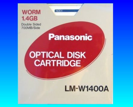 LM-W1400A Panasonic WORM 1.4GB Optical Disk Cartridge Conversion and File Transfer