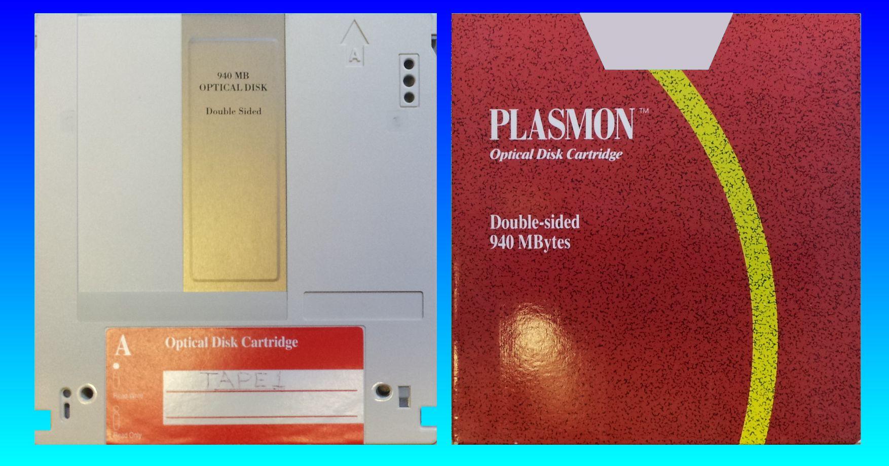 Converting Plasmon WORM Disk 940MB P940C