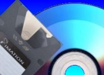 A Superdisk pictured with a CD