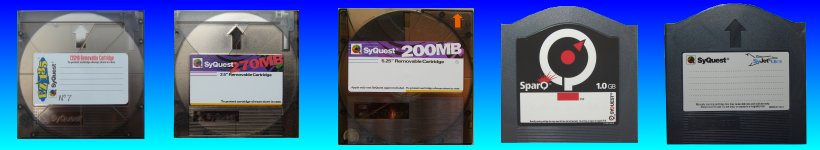 Syquest Sparq EzDrive SyJet Transfer Convert Disks to CD DVD USB. Apple Mac or Windows PC computer format. Recover files for editing and viewing.