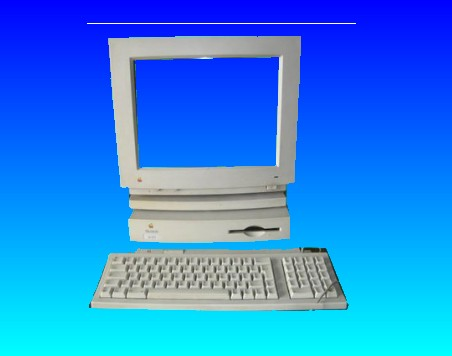 An old Mac Plu computer which used floppy disks to store MacWrite files that needed to be converted to Microsoft Office Word processor.