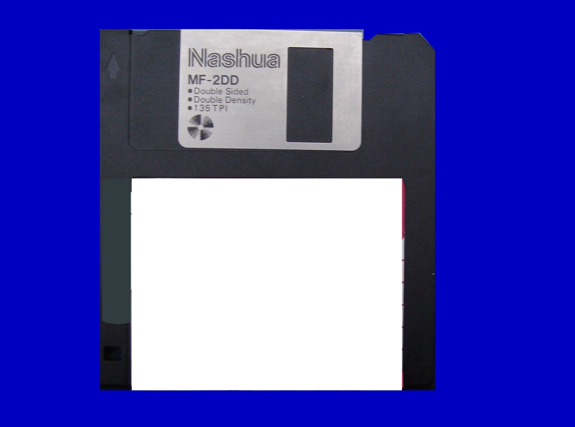 A Sony MFD-2DD floppy disk that contained Programming Source Code.