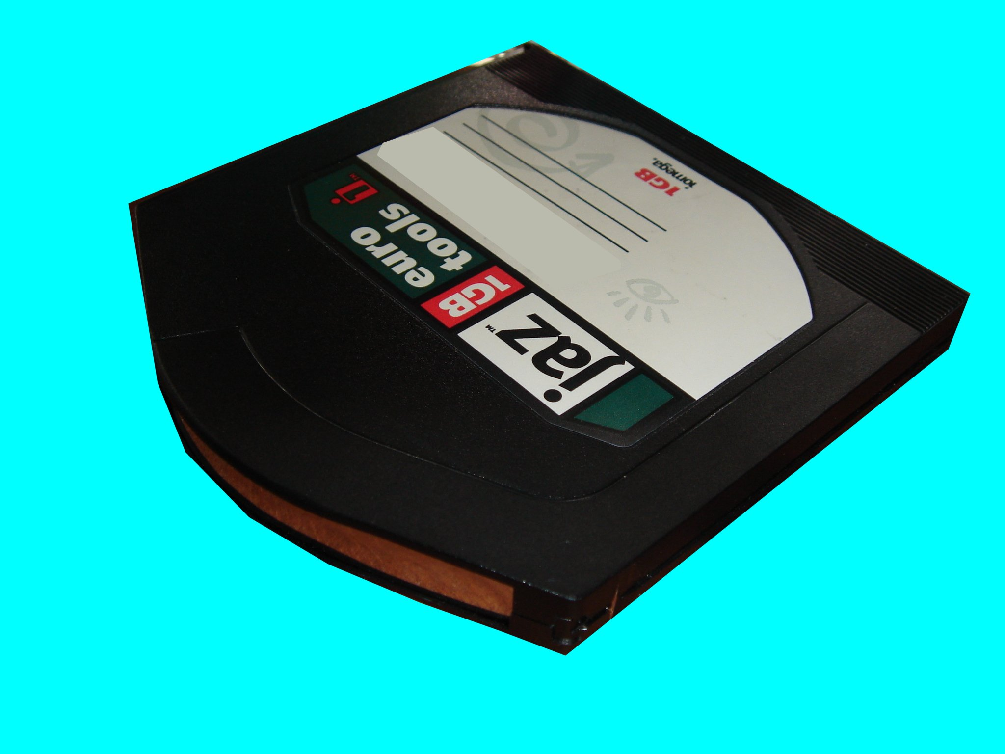 A 1GB Jaz disk that was received by us and needed files copying.