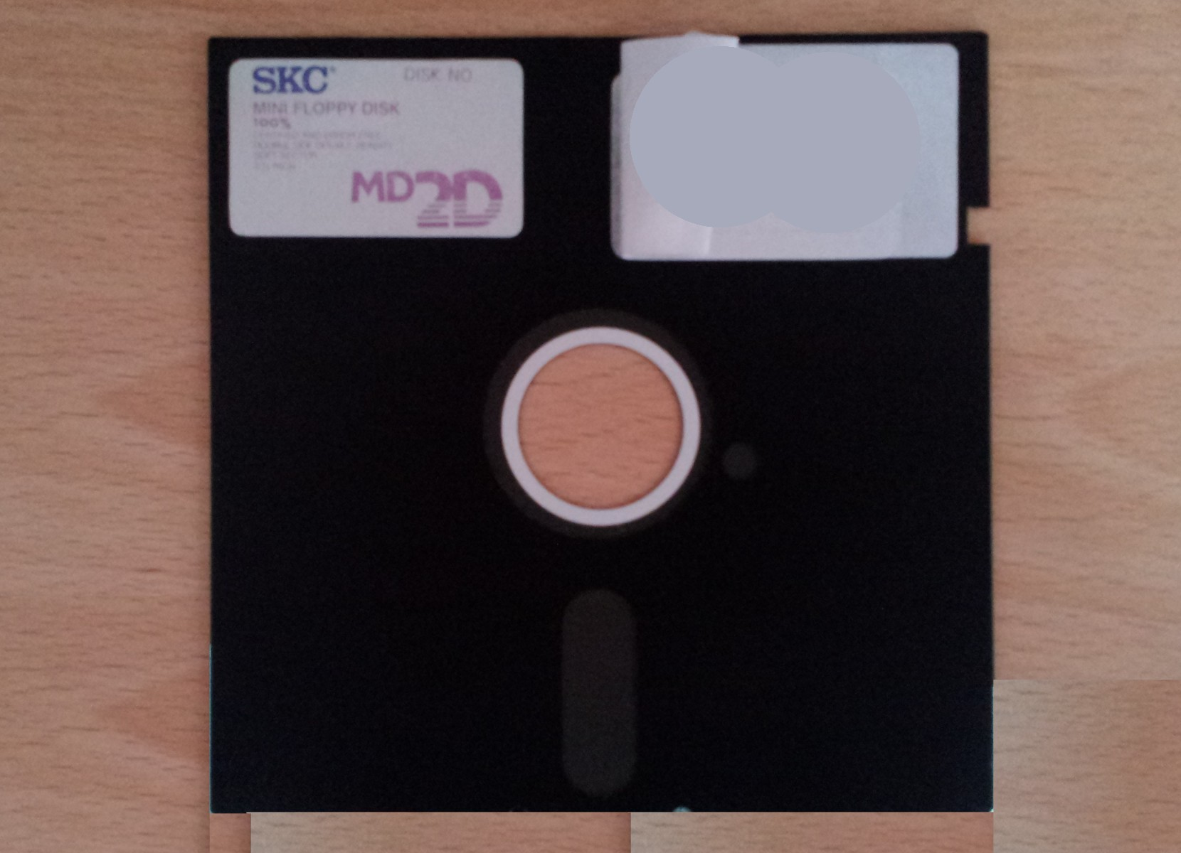 A 5.25 floppy disk which was sent to us to retrieve the data. The client was unsure if the disk still worked but simply wanted the files emailing back to them. This disk was a mini Floppy disk although by today's standards it is very large for the compared to the amount of data it holds! It was designated MD2D meaning low density 360kb.
