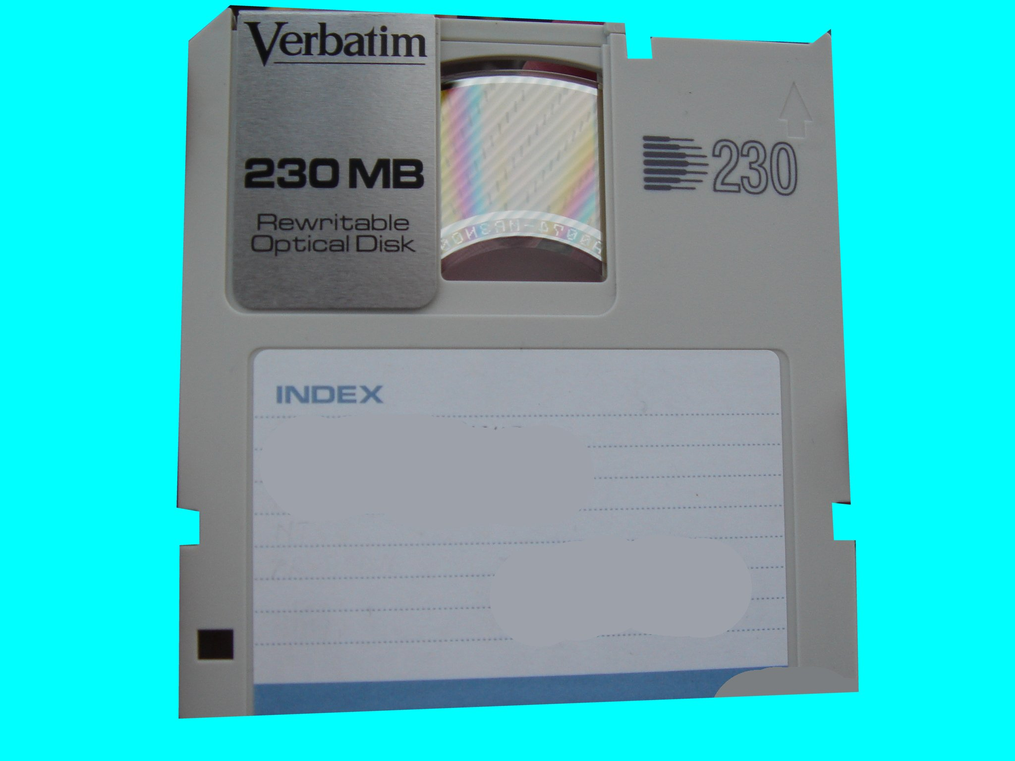Gigamo optical disk recovering missing files.