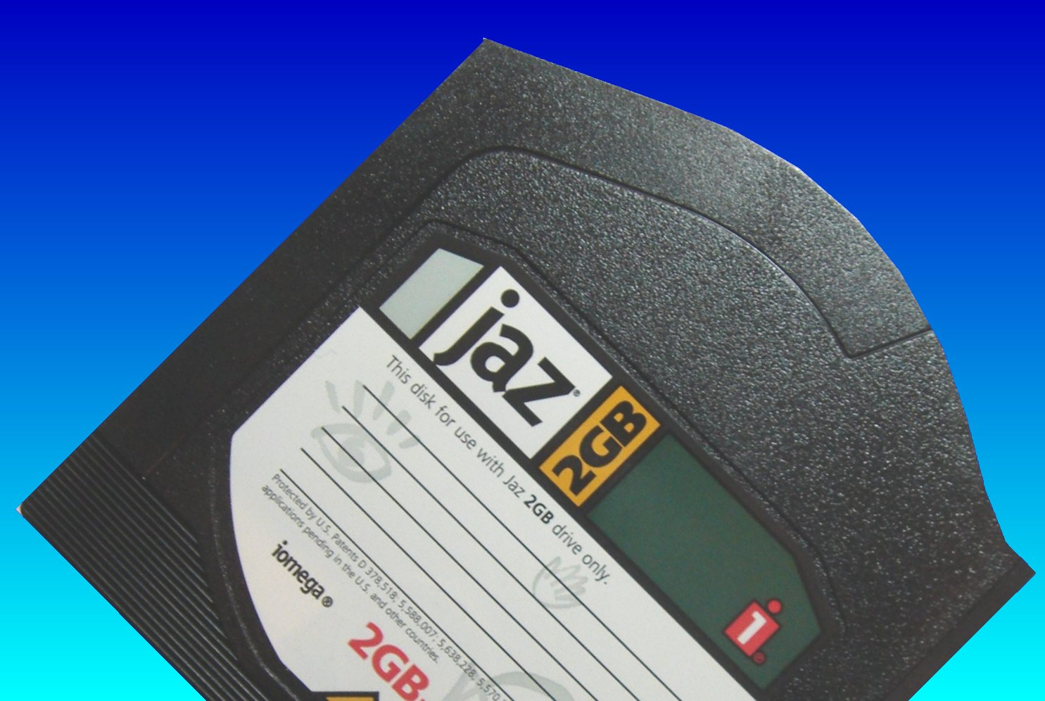 A Jaz Disk with 2GB data capacity. The other type held 1gb.