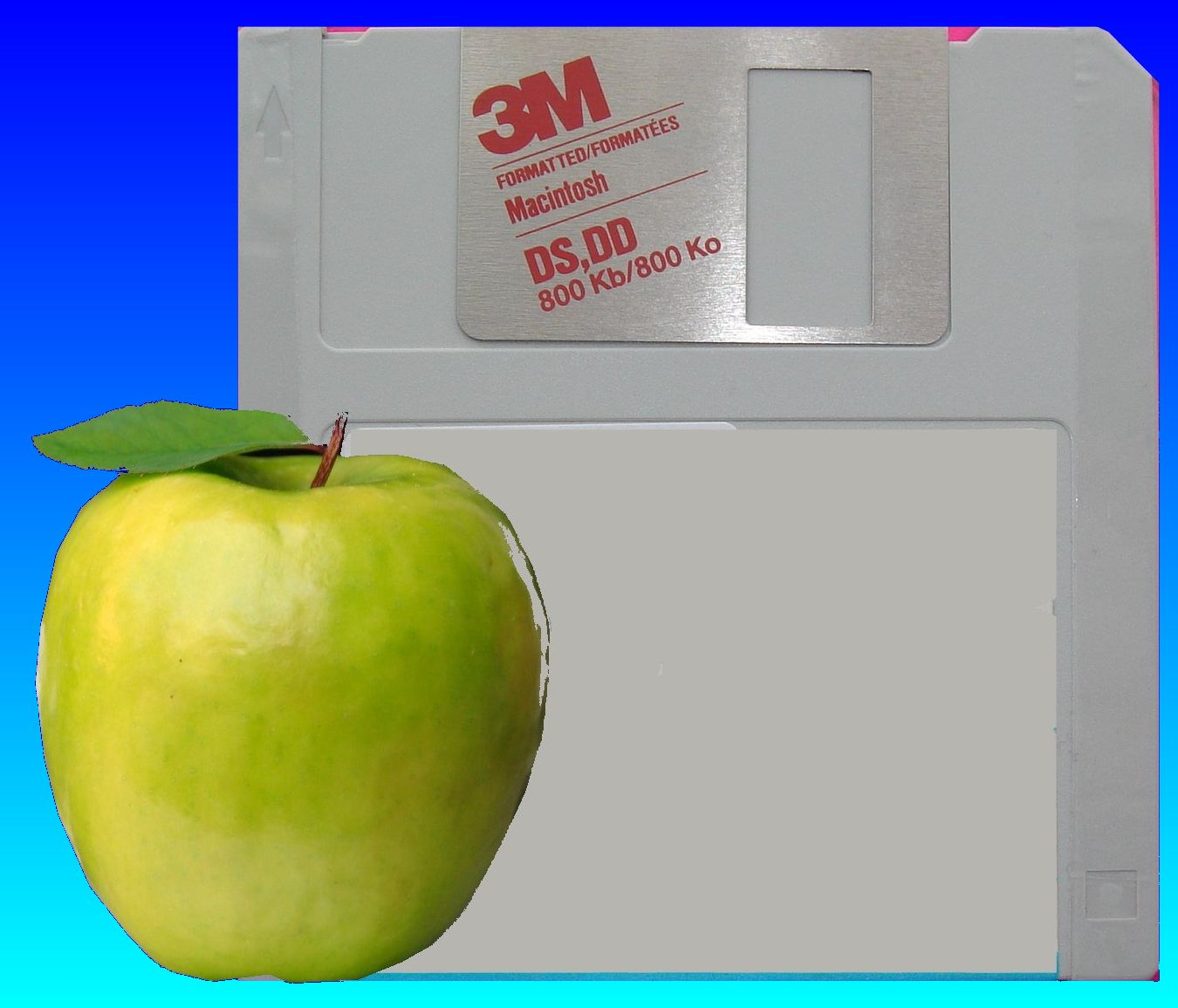 mac 3.5 inch floppy disk from apple computer awaiting file conversion